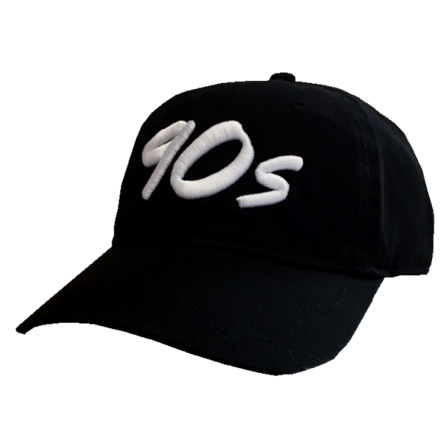 The Best Decade in Country Music Unconstructed Black Ballcap- White Logo